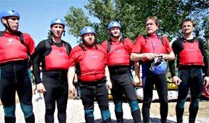 Croatian Tourism Minister at Rafting Regatta on Zrmanja River, Croatia