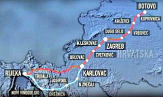 New Train line from Hungary via Zagreb to Rijeka