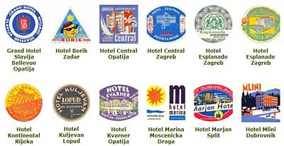 Small Gallery of Croatian Hotels Luggage Labels