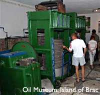 The museum of Olive Oil Making at Island of Brac