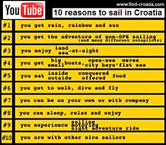 Ten Reasons to Sail in Croatia