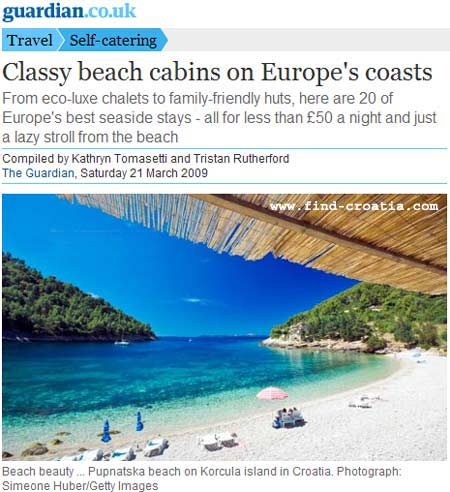 Beaches of Croatia in Guardian