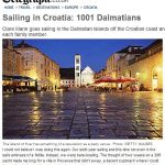 Sailing in the Dalmatian Islands off the Croatian coast