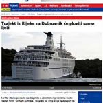 Jadrolinija's Coastal Ferries will sail from June to October only