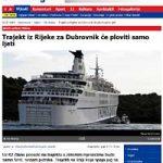 Jadrolinija's Coastal Ferries will sail from June to October only