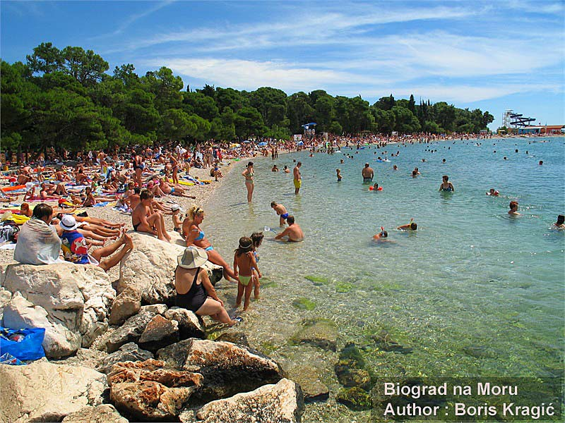 beach in biograd na moru