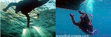 photos of scuba diving in Croatia