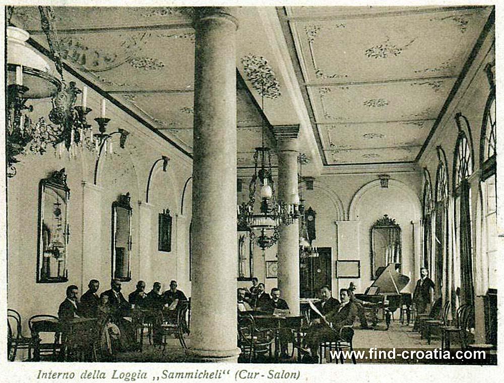 Cafe in Hvar in 1902