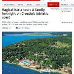 Magical Istria Tour article in todays Mirror