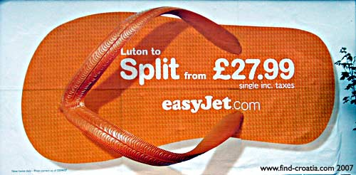 easyjet billboard advert