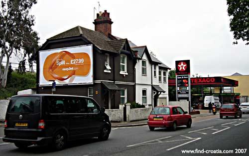 advert easyjet billboard split