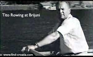 tito rowing brijuni