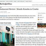 Motovun's Mondo Konoba in NY Times