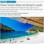 Croatia in Europe's Best Beach Cabins