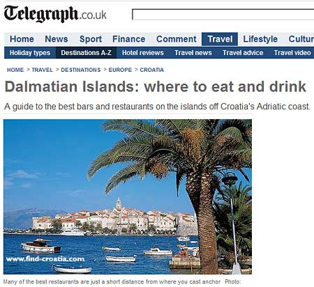 dalmatian islands telegraph