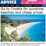 Croatia recommended for sunshine, beaches and cheap prices