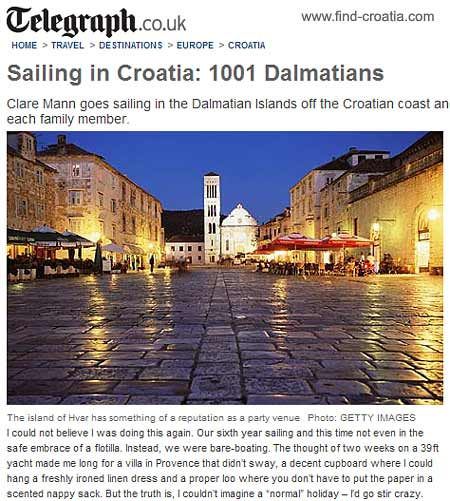 Sailing in Croatia: 1001 Dalmatians