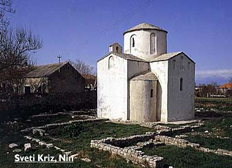 church Sveti Kriz in Nin, Croatia