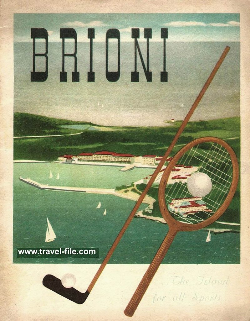 Brijuni poster from 1930s