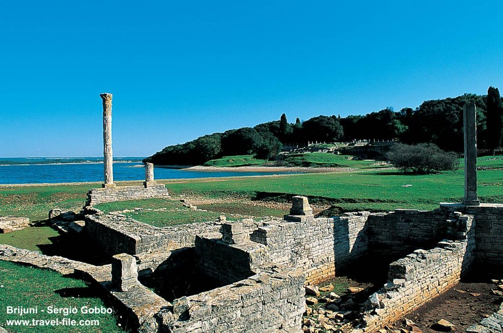 Remains of Roman villa rustica, Verige Bay, Brijuni