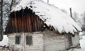 wooden house brvnara in Lika, Croatia