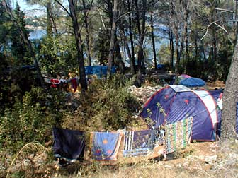 camping site on croatian coast
