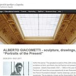 Zagreb : Exhibition of Alberto Giacometti's sculptures and drawings