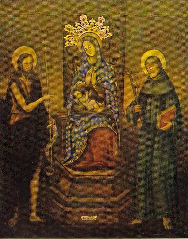 Painting of Gospa Visovacka (Visovac Madonna) displayed in Monastery