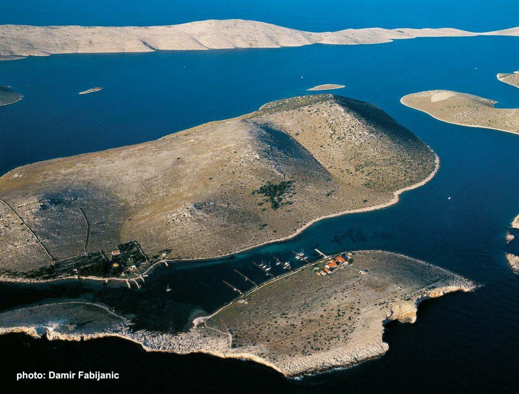 Panorama of Kornati Islands - Piskera and Vela Panitula islands