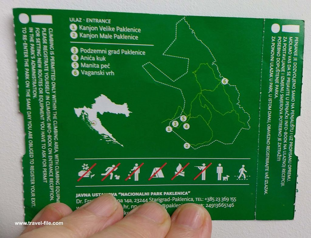 orientation map of the Park