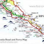 Dalmatia and South Croatia Road and Ferry Map